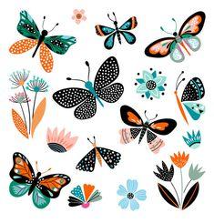 Borboleta Vetores e Ilustrações de Stock - iStock Illustration Papillon, Butterfly Illustration, Illustration Art, Art Papillon, Butterfly Flowers, Butterfly Images, Monarch Butterfly, Gouache, Vector Art