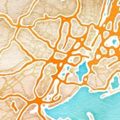 maps.stamen.com  Turn your hometown into a water color map.