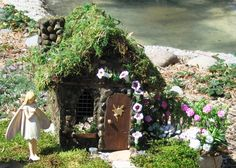 Handcrafted Stone Fairy Houses
