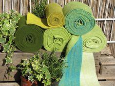 Filzband 15cm breit, tolle Farben, grün von Sonja Sonnenschein auf DaWanda.com