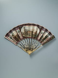 Fan  Date: late 18th century Culture: Italian Medium: Parchment, paint, ivory, silver, colored foil, glass, metal Dimensions: 20 3/4 x 11 1/4 in. (52.7 x 28.6 cm)