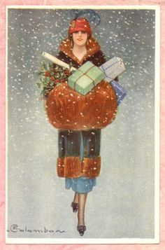 A Polar Bear's Tale: Christmas shopping, 1920s...