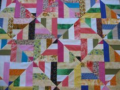 Millie's Quilting: Rail Fence and Strip Twist Quilt