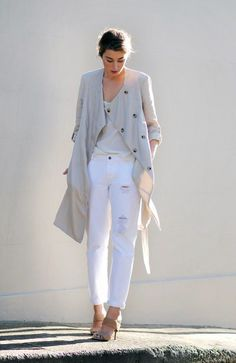 Update your white jeans this season with DIY distressing. www.stylestaples.com.au