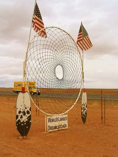 World's Largest Dreamcatcher Just coz! Large Dream Catcher, Dream Catchers, Attraction World, Medicine Wheel, Roadside Attractions, World's Biggest, Native American Indians, Native Americans, Worlds Largest