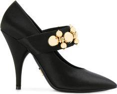 Sale! Prada embellished strap Mary Jane pumps