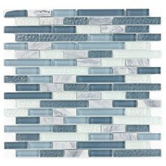 @Overstock - This stone and glass mix is designed to add modern beauty and contemporary styling to any residential or commercial wall project. The blue/ grey tones of clear glass work with wavy glass accents on a meshed sheet.http://www.overstock.com/Home-Garden/ICL-H-137-Blue-Grey-Glass-and-Stone-Mix-Case-of-11/7183944/product.html?CID=214117 $105.00
