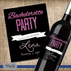 Bachelorette party wine label, bachelorette party wine favors, bachelorette party favor, bachelorette party gift, bachelorette decorations