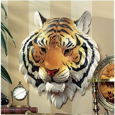 Indochinese Tiger Wall Sculpture by Design Toscano. $59.95. Cast in quality designer resin. Design Toscano exclusive. Hand painted. JE122315 Features: -Hand painted.-Design Toscano exclusive. Construction: -Quality designer resin construction.