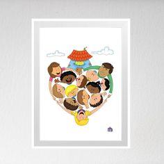Ilustração que mostra o amor pelas crianças do Brasil e do mundo.. todas as crianças merecem amor e lar.  ★ Poster impresso em papel coucher 180g no tamanho A3 (30x42cm)  ★ Prazo de postagem: 7 dias úteis  ★ NÃO INCLUI MOLDURA  ★ Design: Milena Barbosa R$ 30,00