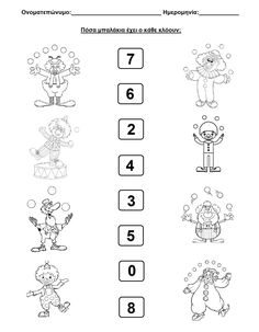 Coloring Worksheets For Kindergarten, Worksheets For Kids, Pre School, School Days, Clown Crafts, Clowns, Classroom, Clip Art, Activities