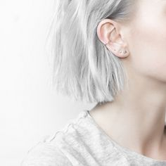 The Minimal 4 piece earring set are made to become staples in your wardrobe. Simple to style in multiple ways, effortlessly blending into your wardrobe and everyday life. The earrings can also be purc                                                                                                                                                                                 More