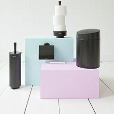 #Kosz na #odpady 5l ✔ #Uchwyt na #papier toaletowy w rolce ✔ #Szczotka do #WC ✔ #Brabantia #akcesoria #łazienkowe #łazienka