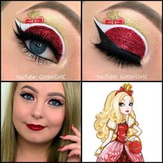 Ever After High Apple White Makeup look