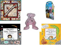 Girls Gift Bundle  Ages 612 5 Piece  Dachshundopoly Board Game  Disney Fairies Flavored Lip Gloss Wand 2 Pack Bonus Travel Tin  American Greeting Pink Bear Plush 12  Amelia Takes Command
