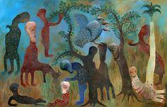 Cuban Artist Manuel Mendive  'Siempre me Apoyo en Elequa' 2006