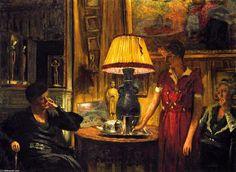'Dans le salon, Soirée, Rue de Naples', peinture de Edouard Vuillard (1868-1940…