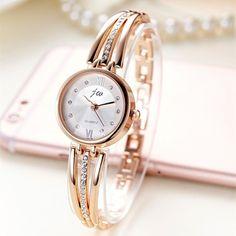 e6060d38f84 Nuevo reloj de pulsera de acero inoxidable de marca de lujo para mujer  relojes de pulsera de cuarzo para mujer reloj de pulsera