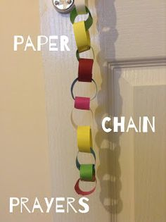 Another great prayer idea - this time using paper chains and colour coding.