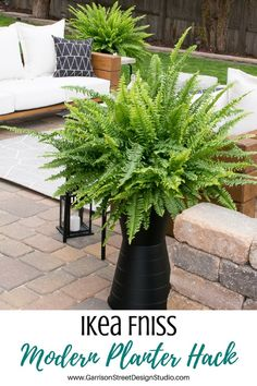 11 of the Best IKEA Hacks We've Seen This Year. Lisa's modern planter hack looks exceptional with her ferns and it only cost a few dollars to make.