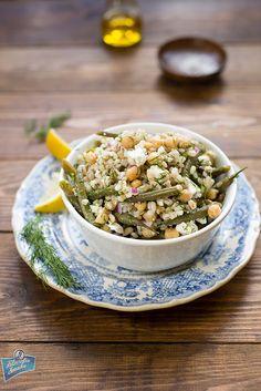Sałatka z pęczaku i fasolki szparagowej