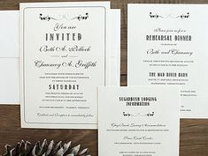 Rustic Floral Wedding Invitation by Hobart and Haven  www.hobartandhaven.com