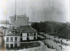Parque del Muelle Avilés, Junto al Gran Hotel - Año:1925 ~ Asturianos en el Pasado