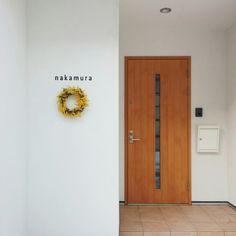 切り文字/楽天/真鍮/表札/北欧/北欧インテリア…などのインテリア実例 - 2016-02-12 09:08:57 | RoomClip(ルームクリップ) Tall Cabinet Storage, Locker Storage, Ideal Home, Entrance, Front Porch, Balcony, Gate, Exterior, Nameplate