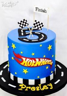 Hotwheels birthday cake - do the name in logo script instead