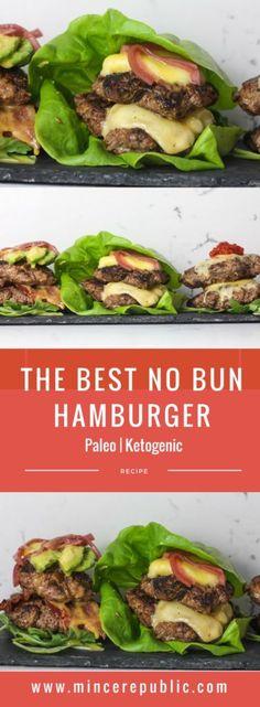 The Best No Bun Hamburger recipe | mincerepublic.com