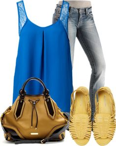"""Blue Top"" by wherecoconutgrows on Polyvore"
