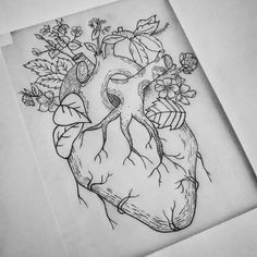Nature Heart - G•Gek #tattoo #tattoodesign #illustration #botanical #anatomy #nature #heart #roots #simple #flowers #human #dotwork #blackworktattoo #blackwork #inked #blackartist #blacktattoo #blackink #inkstagram