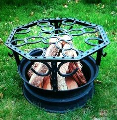 Horseshoe Fire Pit by CCFabrications on Etsy