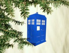 Acrylic Doctor Who Tardis Christmas by ThroughThickandThin on Etsy, $10.00
