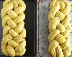 Sweet Braided Ester Bread with Raisins Easter bread Sweet Braided Easter Bread with Raisins - Valya's Taste of Home Easter Bread Recipe, Easter Recipes, Holiday Recipes, Easter Desserts, Easter Ideas, Holiday Treats, Easter Hot Cross Buns, Italian Easter Bread, Easter Dinner