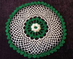 New Hand Crocheted Doily --St Patrick--