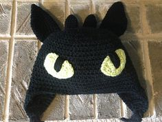 Toothless hat - How to Train Your Dragon pattern by Sarah A Zimmerman