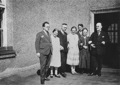 Group portrait of members of the extended Himmler family.  Pictured from right to left: Gebhard Himmler (Heinrich's father), Frau Himmler (Heinrich's mother), Ernst Himmler (Heinrich's brother), Margarete Himmler, Heinrich Himmler, fiance of Gebhard Himmler, Jr., and Gebhard Himmler, Jr. (Heinrich's brother).