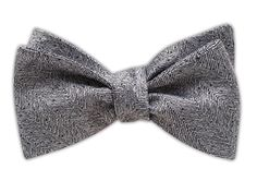 Downton Textured Solid - Black/White Bow Tie, $25 at www.TheTieBar.com