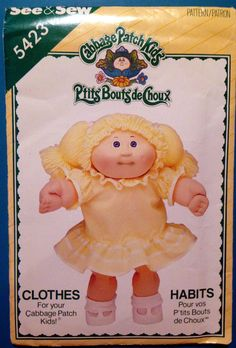 Vintage Cabbage Patch Kids Doll Clothes - Dress and Pantaloons  See & Sew…