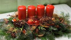 Adventskranz - Adventsgesteck - ein Designerstück von kreative-Floristik bei DaWanda