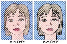Art Projects for Kids: Lichtenstein Style Portraits