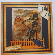 Stampin' Up in The Attic: Halloween Skeleton