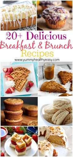20 Delicious Breakfast Brunch Recipes - perfect for Mothers Day! #breakfast #recipe #wednesday #recipes #delicious