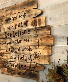 Dandelion Art Field Of Wishes Dandelions Reclaimed Rustic Wood