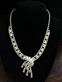 Gorgeous Vintage Rhinestone Necklace  Exquisite by Vintageimagine, $69.99