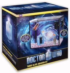 Doctor Who Tardis Glass Aquarium Kit. I don't have a fish, but I kind of need this right now.
