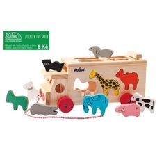 Kamion s vkládacími tvary - zvířátka Woody, Box, Wooden Toys, Montessori, Toy Chest, Toddler Bed, Home Decor, Kids Wood, Games