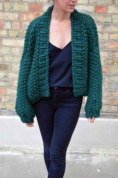 "Add a splash of chunky knitting to your winter wardrobe with the Seed Bomber. The seed stitch works up quickly to create a fun texture and the slightly oversized and cropped shape and big balloon sleeves keep the fit looking on trend. SIZES: Oversized fit, with instructions for Small (to fit bust 32-34""), Medium (to fit bust 36-38"") and Large (to fit bust 40-42"") MATERIALS REQUIRED: Super Chunky yarn 12mm circular knitting needles and 15mm circular knitting needles SPECIAL TECHNIQUES: se..."