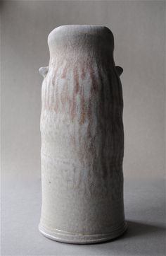 Soda Fired Vase With Red Drips by JohnMcCoyPottery on Etsy, $75.00  www.etsy.com/shop/JohnMcCoyPottery
